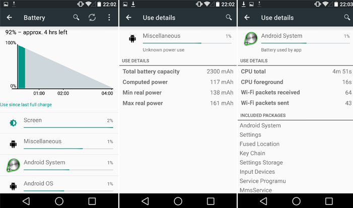 Android L Battery