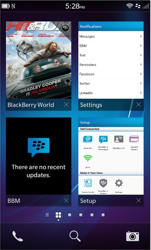 BB10 Homescreen