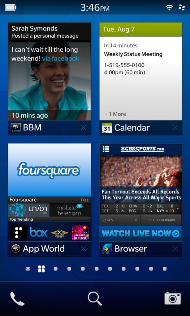 BB10 multitasking