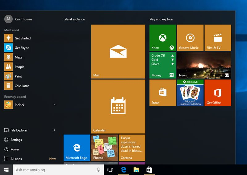Windows-startmenu